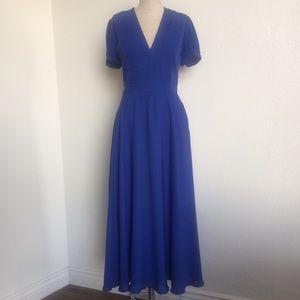 Lulu's Cobalt Blue Vneck Maxi Dress